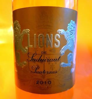 """Bordeaux edelsüss Sauternes : 2013er """"Lions de Suduiraut"""""""