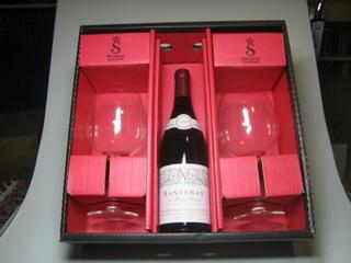 """Le Bourgogne à Deux"" mit 2 Spiegelau Kristall-Gläser"