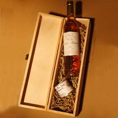 Süsse Stunde zu 2 : edelsüßer Wein  & Foie-Gras + Holzkiste