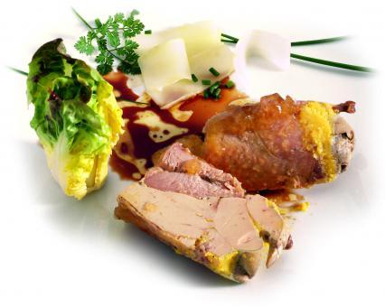 Caille au Foie Gras  130g (Wachtel mit 30% Foie-Gras)