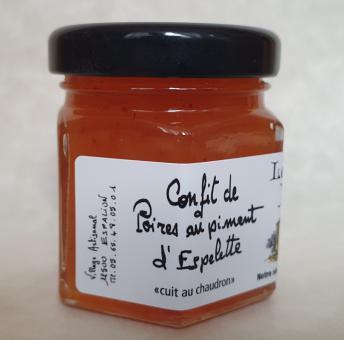 Süße Beilage: Birnen-Confit mit Piment d´Espelette (50g)